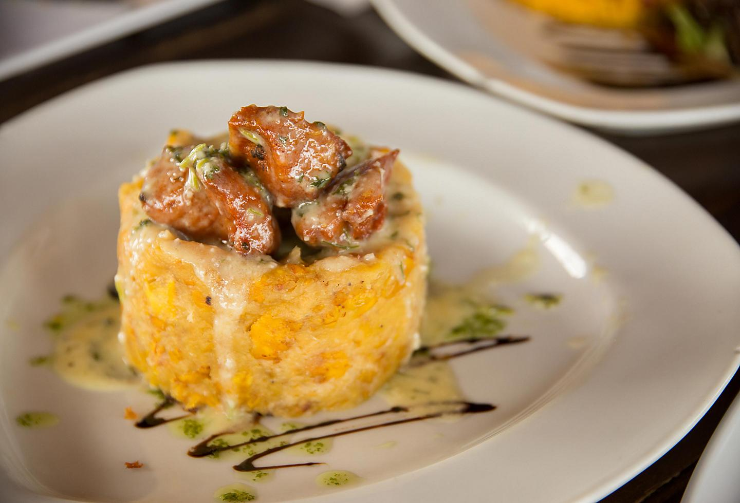 Succulent Mofongo with Fried Plantains