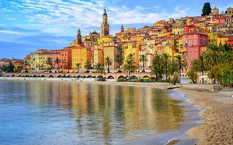 Beautiful View of the French Riviera Coast