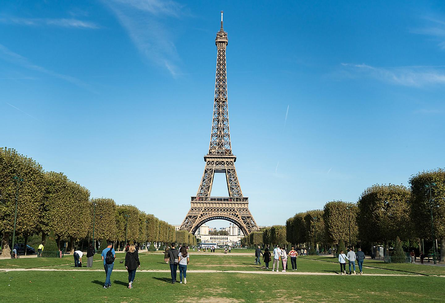 Paris France Eiffel Tower Park during Day Time