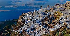 Cliff Greece Village and Beach Santorini