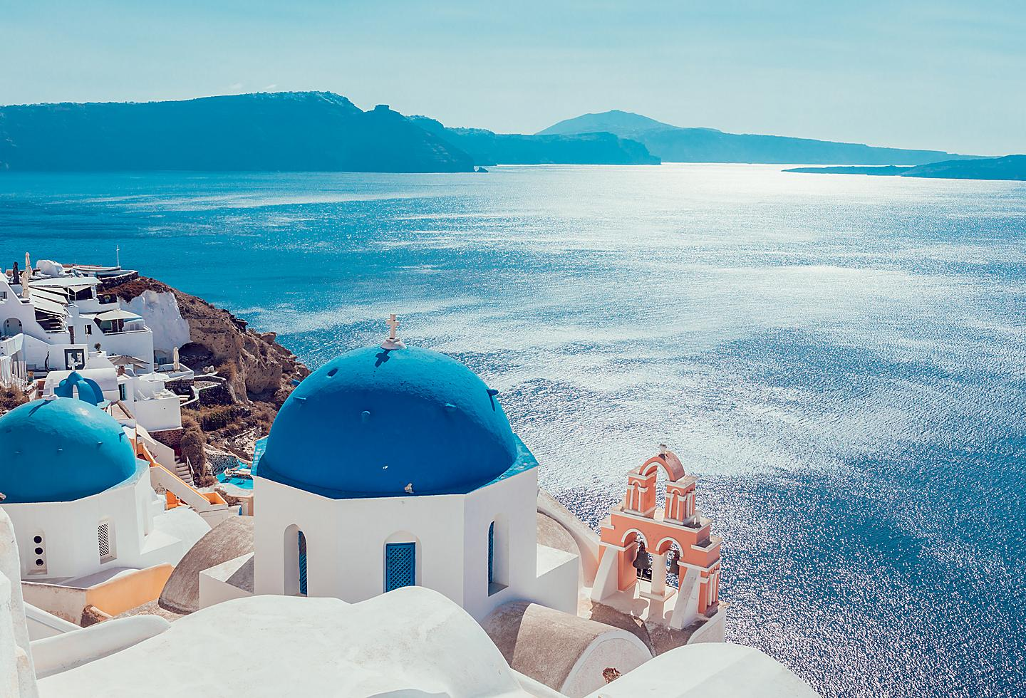 Greece Santorini Island Blue Roof