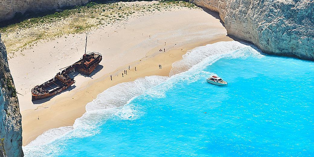 Greece Zakynthos Navagio Ship Wreck Beach