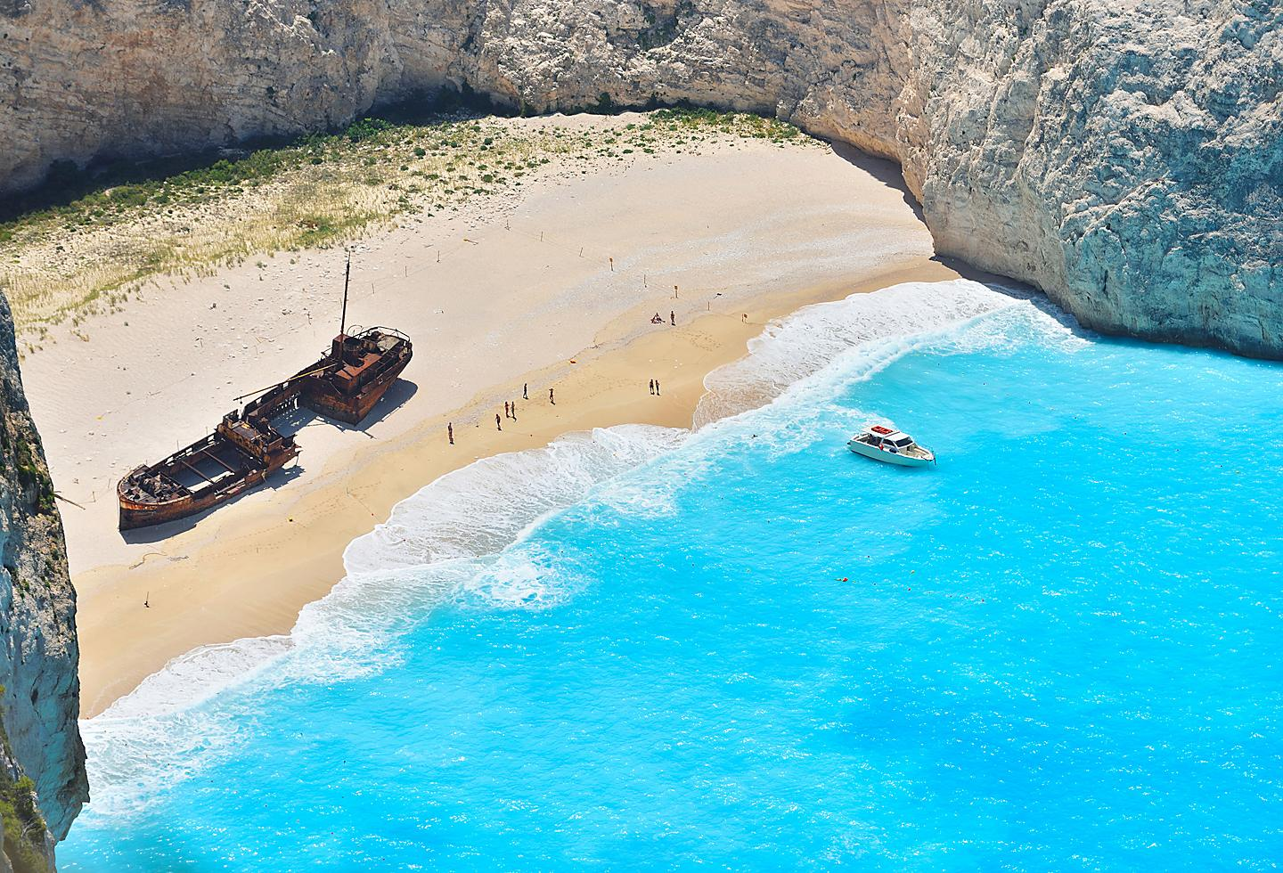 Greece Zakynthos Navagio Ship Wreck Beach