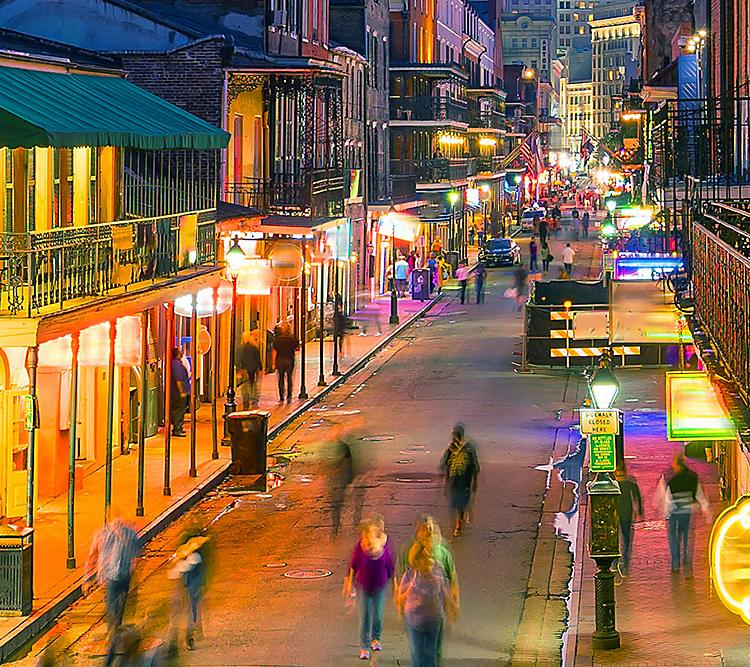 New Orleans French Quarters Night Life