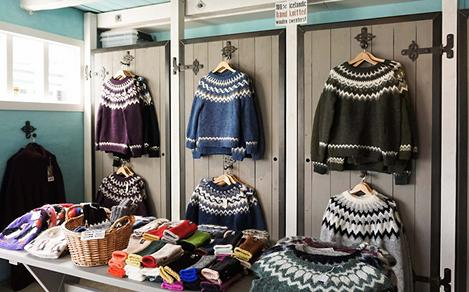 Wool Sweaters at a Local Shop