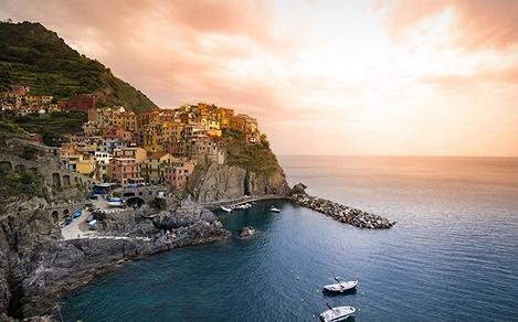 Sunset at Cinque Terre, Italy