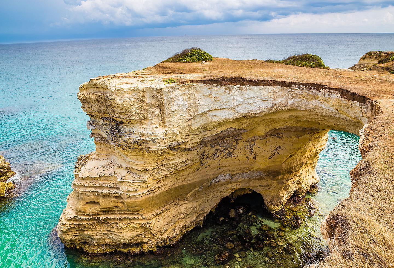 Italy Puglia Torre Dell' Orso Cliff Beach
