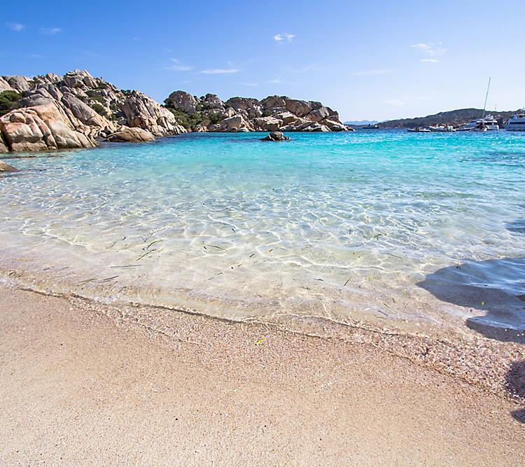 Italy Sardinia Cala Coticcio Blue Ocean Rocks