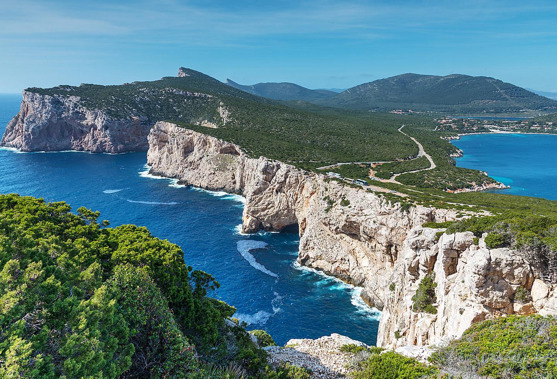 Italy Sardinia Rocky Coastline Aerial