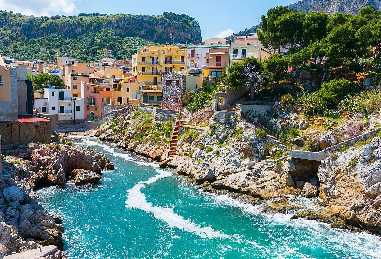 Italy Sicily Santa Flavia Coast Island