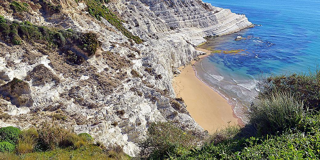 Italy Sicily Turkish Steps Near Agrigento Beach Ocean