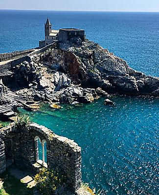 Aerial View of Portovenere Cliffs