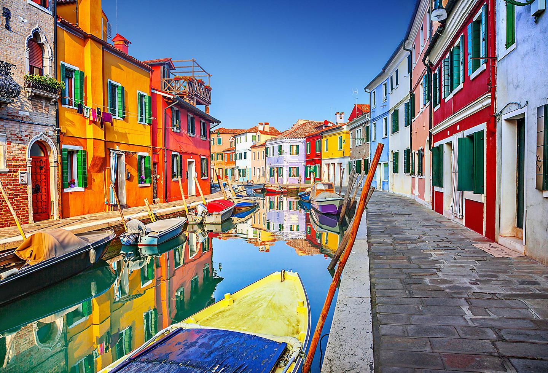 Italy Venice Waterway Gondolas