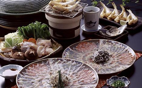 Japanese Cuisine with Blowfish and Dumplings