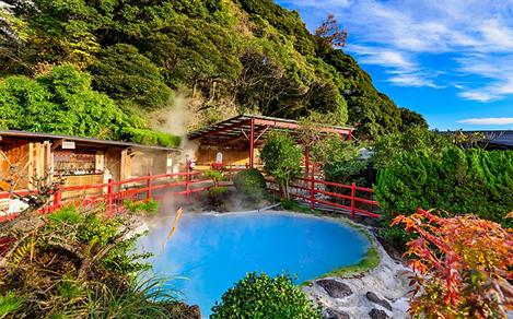 Steaming Hot Springs in Kamado Jigoku