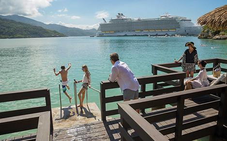 Family Enjoying Exclusive Labadee Cabana Suite