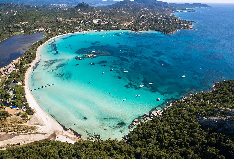 Corsica Island Beach Coast Aerial