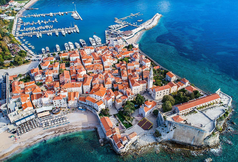 Kotor Montenegro Budva Beach Aerial