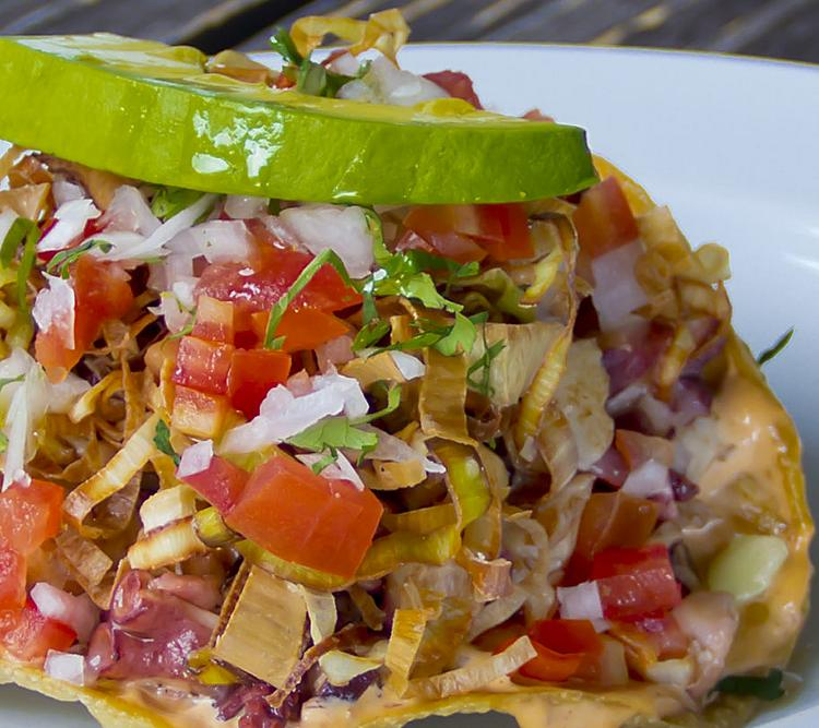Mexican Ceviche Tostada Seafood