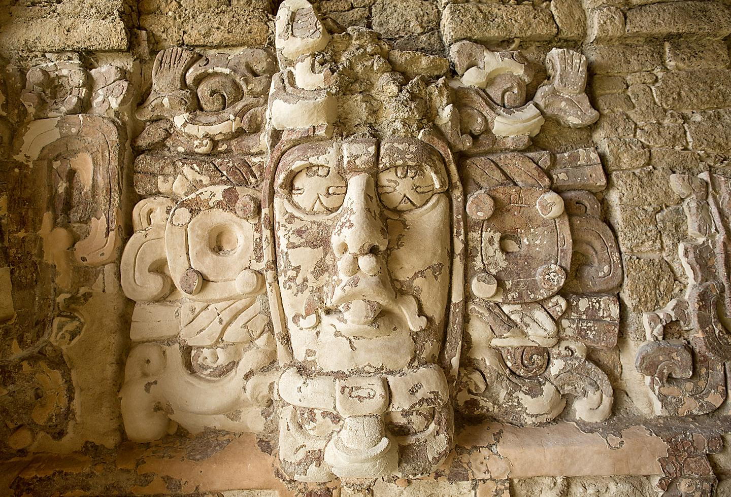 Temple of the Masks Close Up