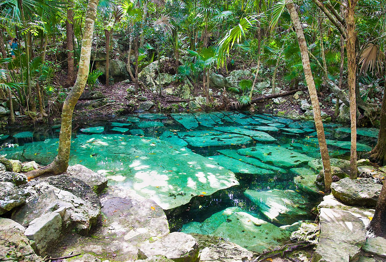 Mexico Yucatan Peninsula Cenote Azul