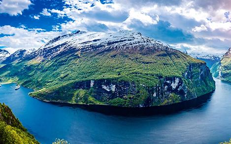 norway mountain landscape fjord