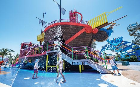 Perfect Day Coco Cay Captain Jill's Galleon Kids on Splash Pad