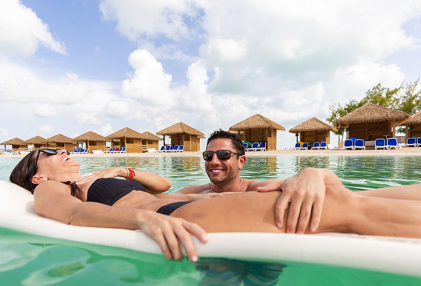 Perfect Day Coco Cay Chill Cabanas Couple Floating