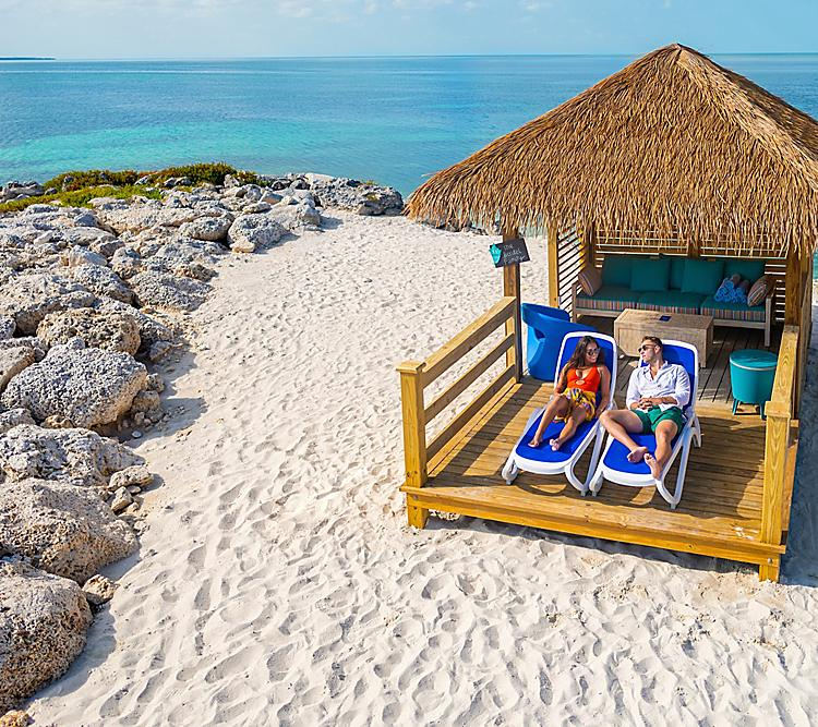 Perfect Day Coco Cay Chill Island Beach Couple Enjoying the Beach Cabana