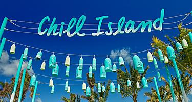 Coco Cay Chill Island Sign