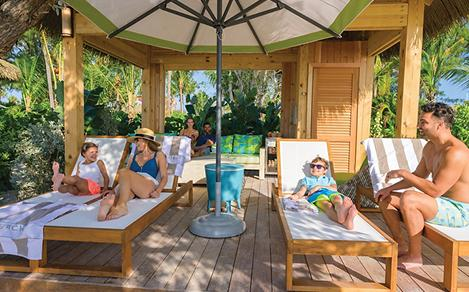 Perfect Day Coco Cay Beach Club Cabana Family Tanning