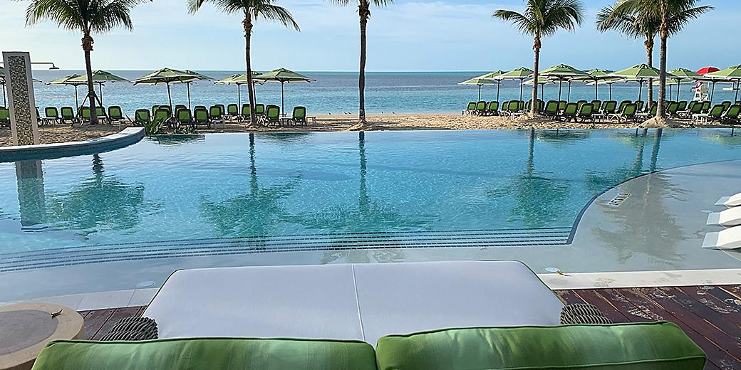 Coco Beach Club Infinity Pool Close Up