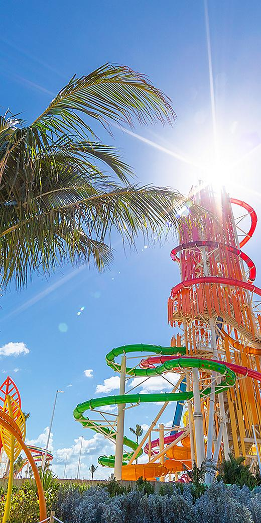 Perfect Day Coco Cay Dare Devil's Tower Sunny Day