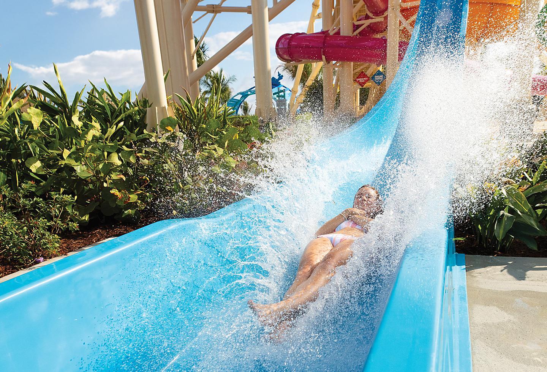 Perfect Day Coco Cay Daredevil Peak Landing Splashing