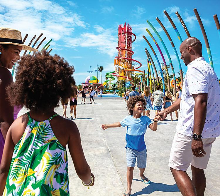 Perfect Day Coco Cay Entrance Pier Family