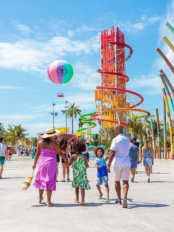 Family At The Entrance of Perfect Day at Cococay