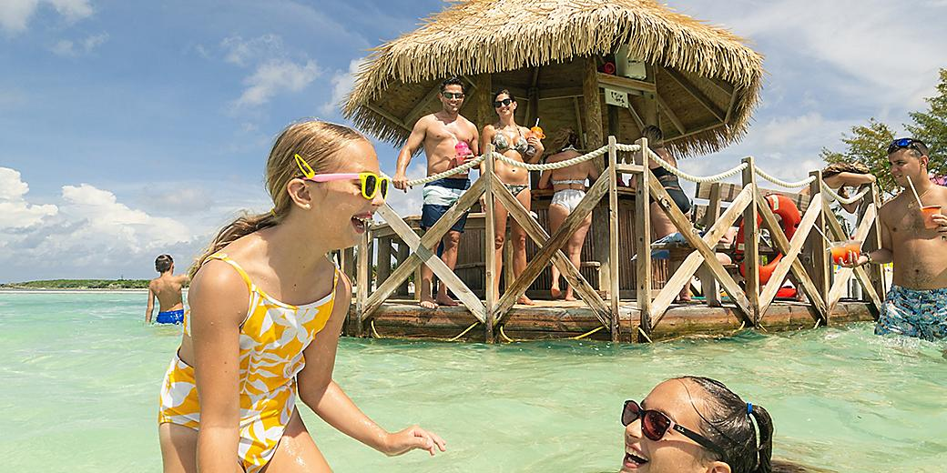 Perfect Day Coco Cay Thrill Water Park Family Enjoying the Slides