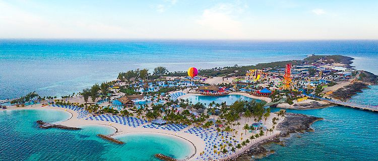 Perfect Day Coco Cay Island Aerial