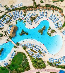 Perfect Day Coco Cay Oasis Lagoon Overhead View of the Pool