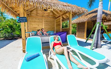 Perfect Day Coco Cay Oasis Lagoon Cabana Family Relaxing