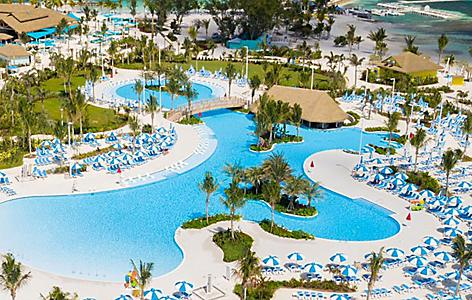 Coco Cay Oasis Lagoon Aerial
