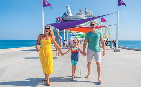 Perfect Day Coco Cay Family on the Pier
