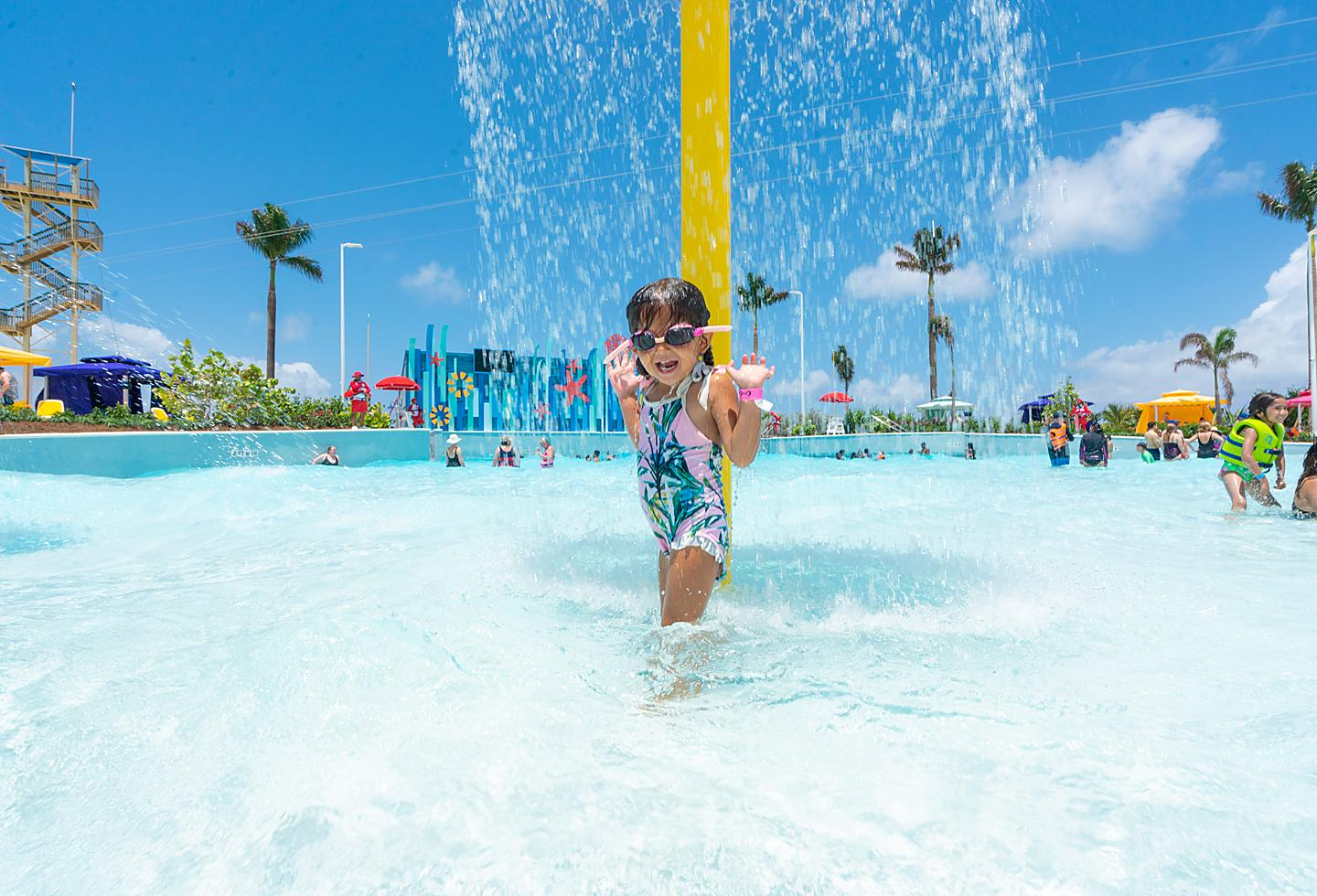 Little girl at Splashaway Bay, Perfect Day at CocoCay