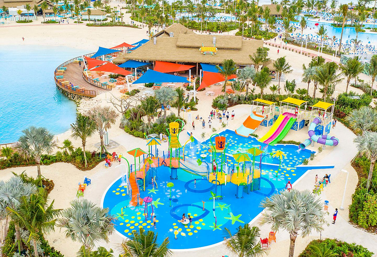 Aerial view of Splashaway Bay at Perfect Day at Cococay