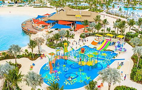Aerial View of Families Enjoying Splashaway Park
