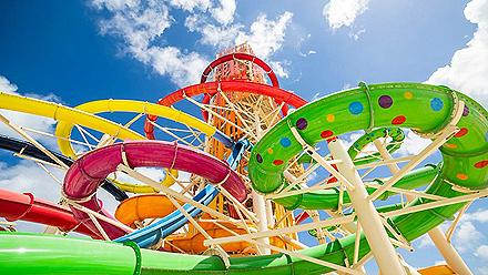 Coco Cay Thrill Water Park Colorful Slides