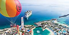 Up Up and Away, Aerial View of the Island., Perfect Day at Coco Cay