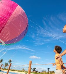 Perfect Day Coco Cay Up Up and Away Kids  Entering Hot Air Balloo