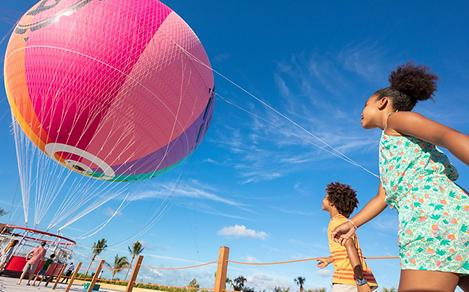 Perfect Day Coco Cay Up Up and Away Kids  Entering Helium Balloon