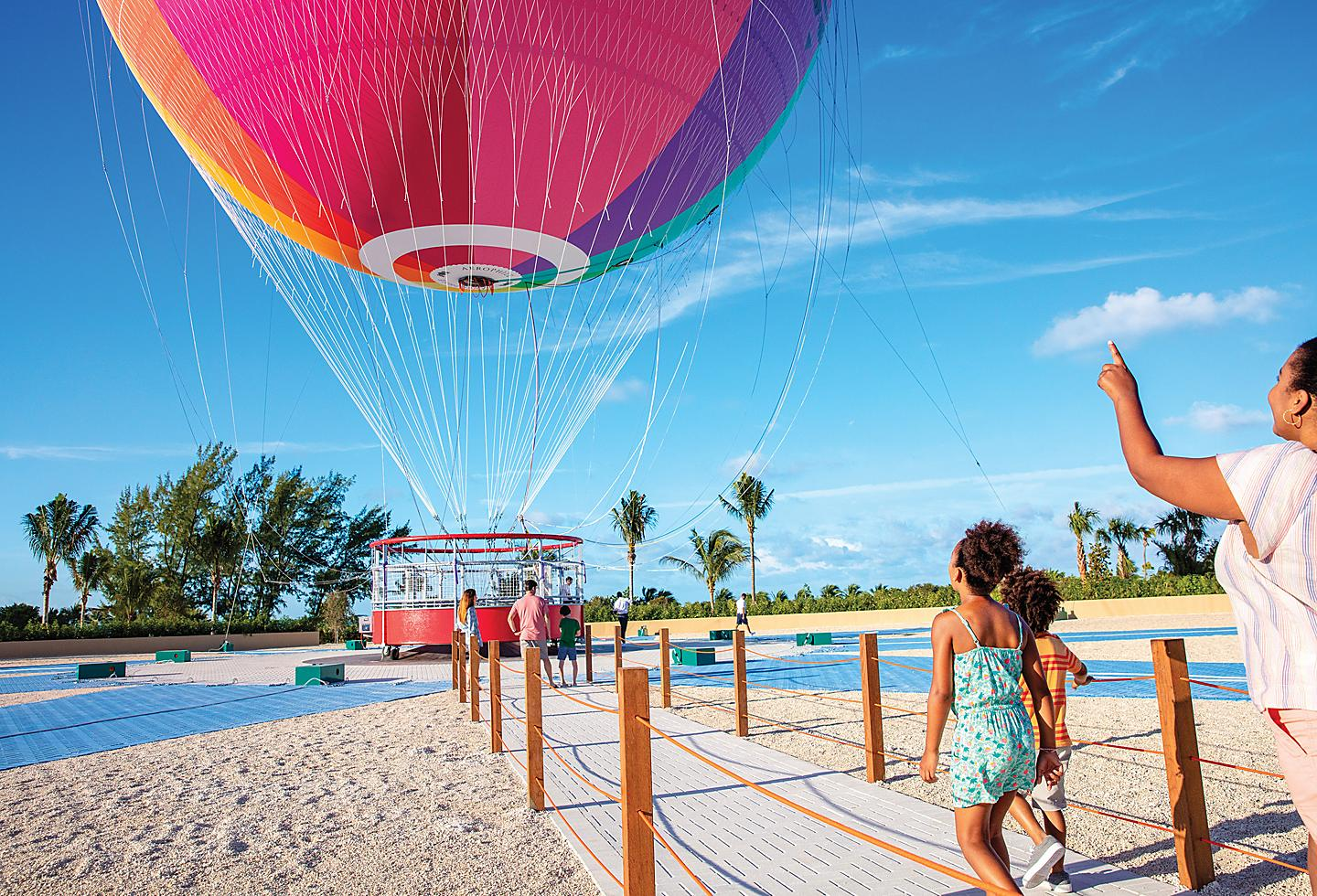 Perfect Day Coco Cay Up Up and Away Entering Balloon